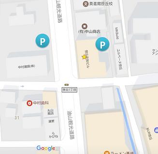 はた矯正歯科周福岡市中央区笹丘MAP