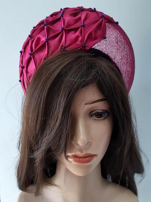 Pink smocked crown