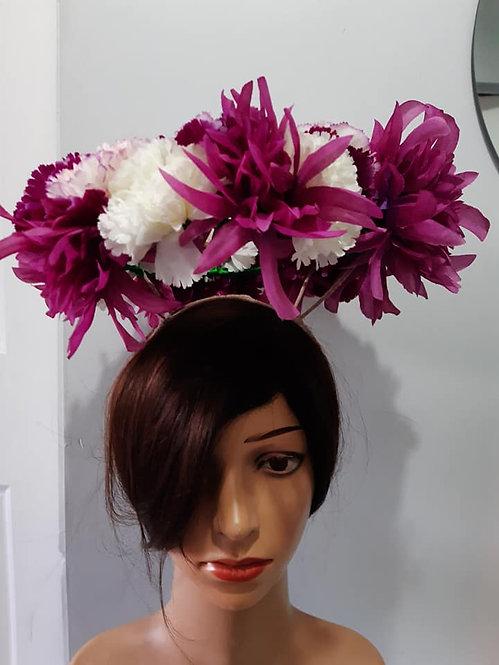 Pink floating floral crown
