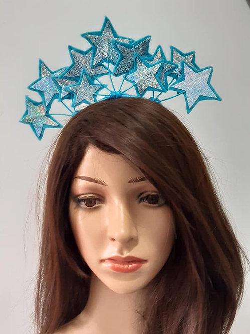Blue pleather headband