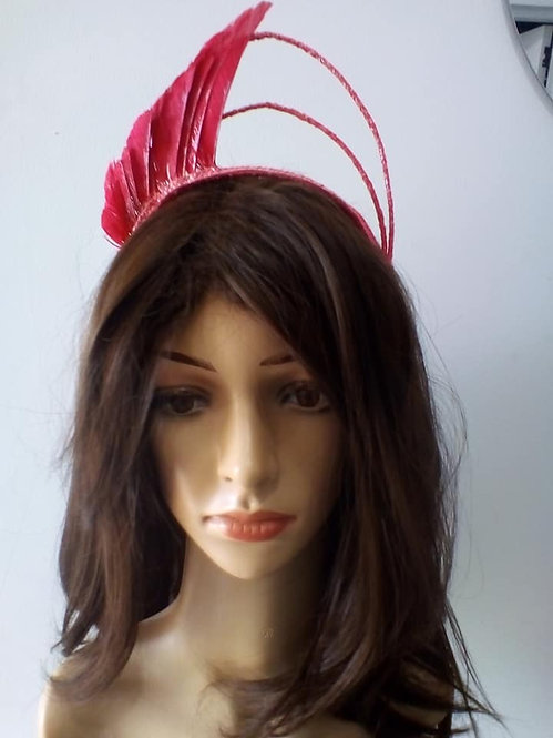 Hot pink feathercrown
