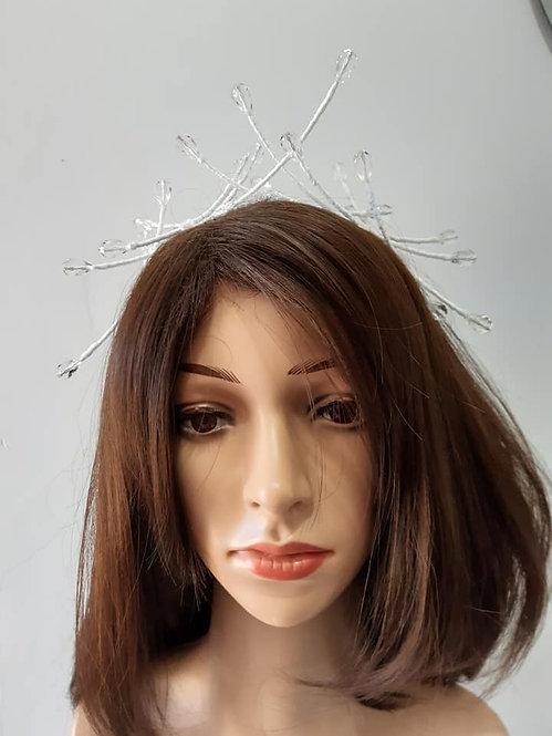 White crystal headband
