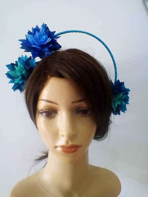 Blue and green halo crown