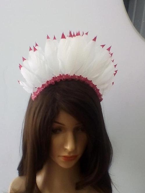 White feathercrown