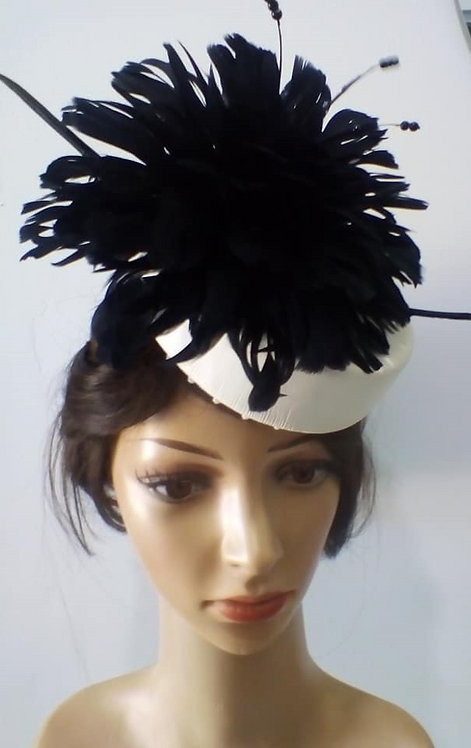 White leather fascinator