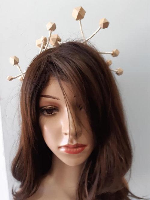 Wooden beaded headband