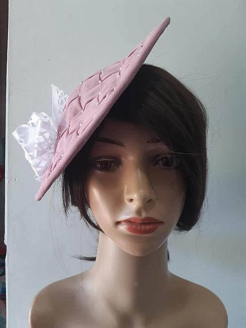 Pink Silk Saucer Hat