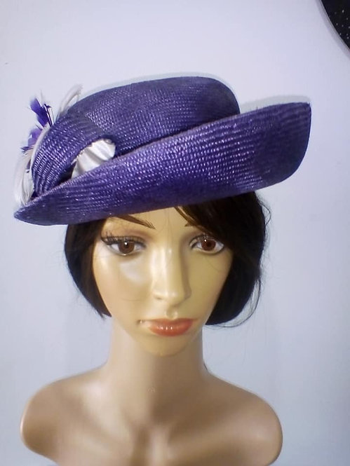 Purple parisisal picture hat