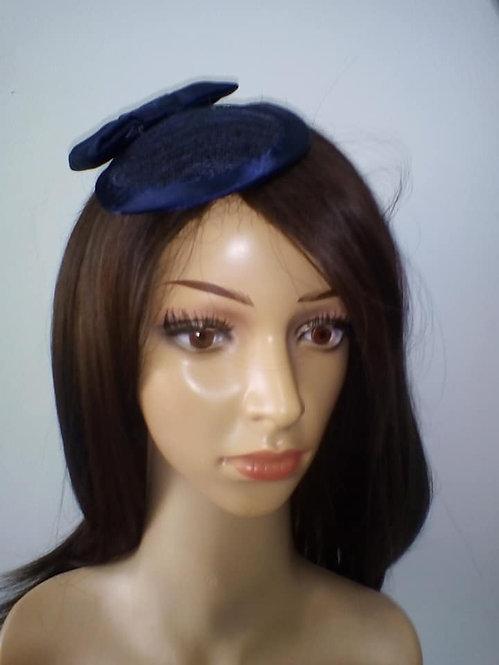 Navy basketweave headpiece