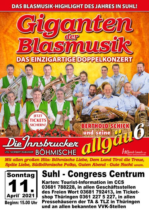 Giganten der Blasmusik 2021 Suhl