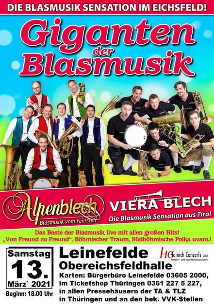 Giganten der Blasmusik 2021 Leinefelde