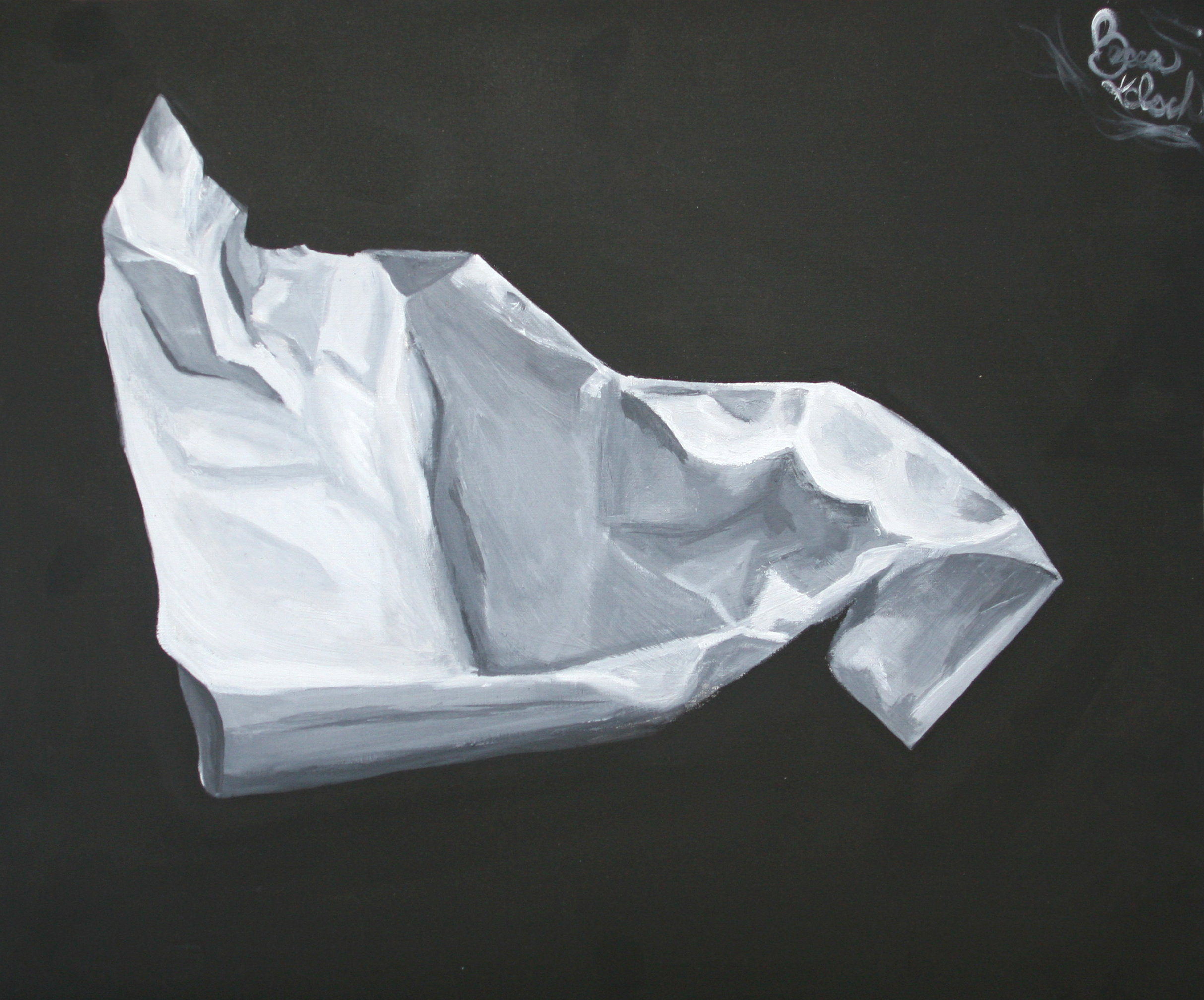 """""""Value Study of Crumpled Paper"""""""