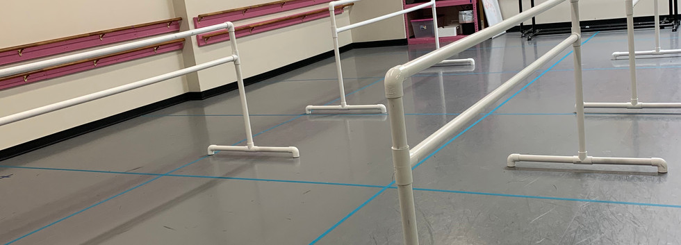 Studio D has new portable barres, too!.j