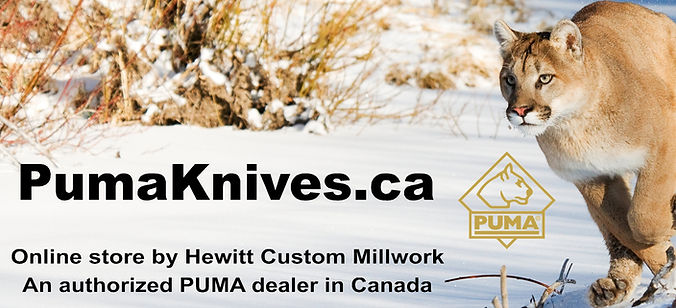 pumaknives.ca  -  Online store by Hewitt Custom Millwork  -  an authorized PUMA dealer in Canada