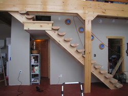Spruce Half Log Stairs