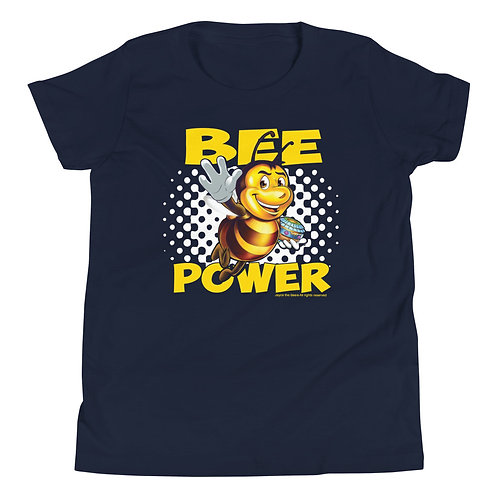 JAYCE THE BEE: Bee Power Youth Short Sleeve T-Shirt
