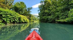 Parcours des vielles îles du Rhône en canoë kayak entre l'Ain et la Savoie