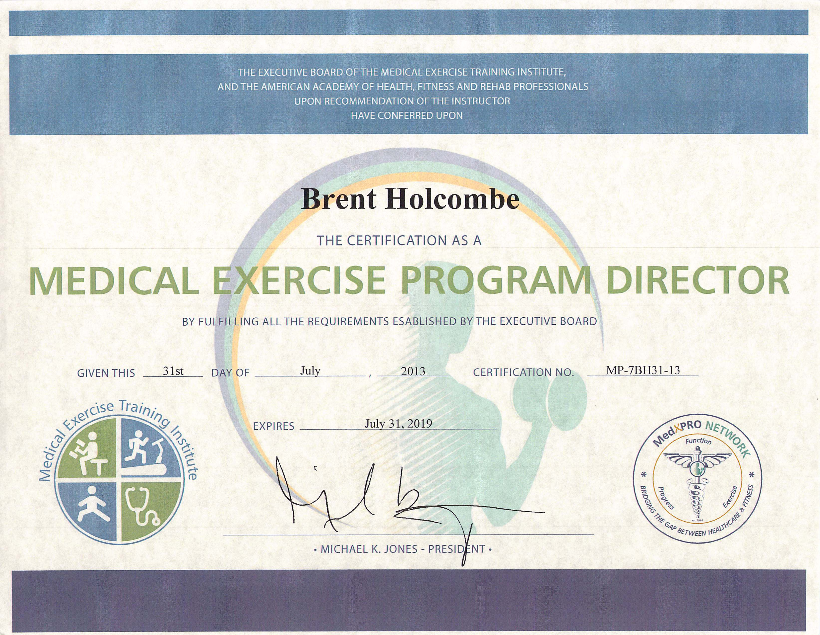 Medical Exercise Program Director
