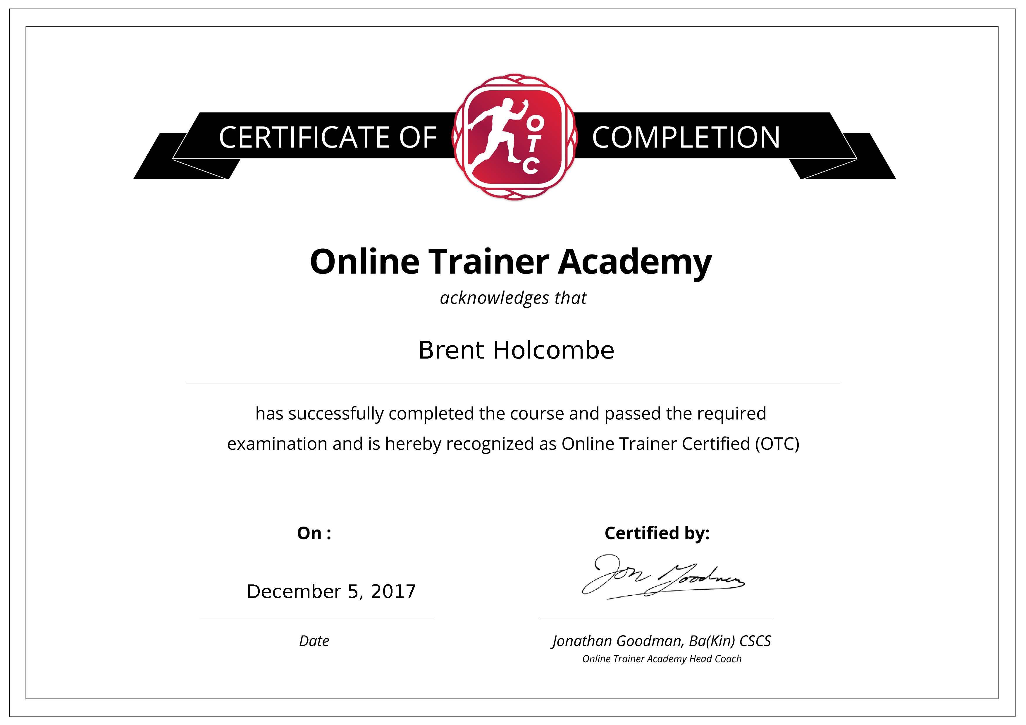 Certified Online Trainer