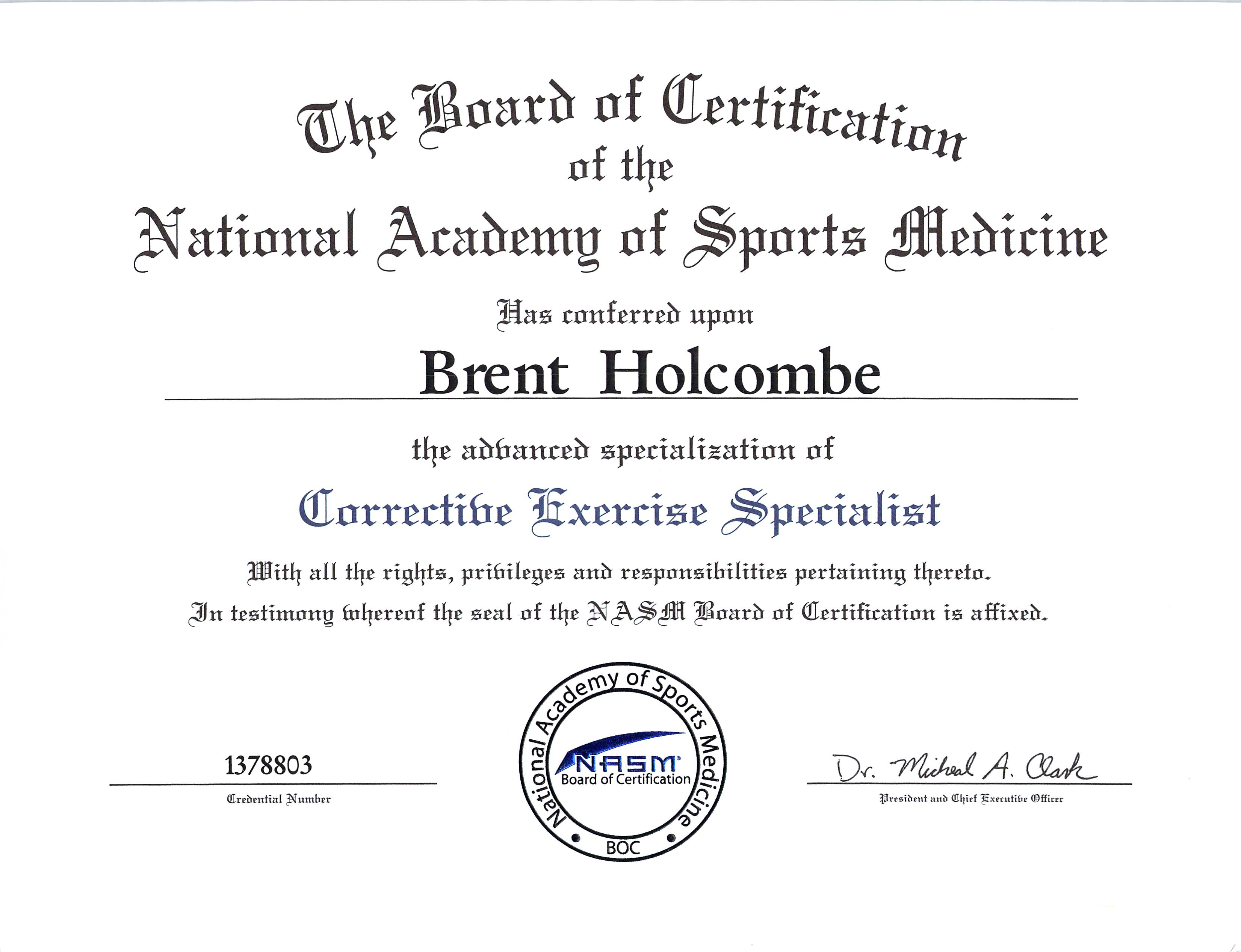 Corrective Exercise Specialist