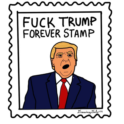 Fuck Trump Forever Stamp