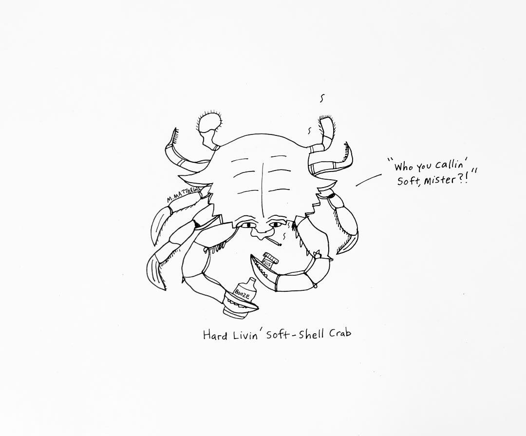Hard livin' soft-shell crab