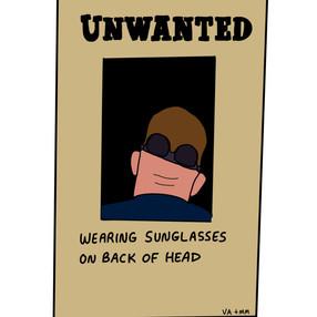 Sunglasses on Neck