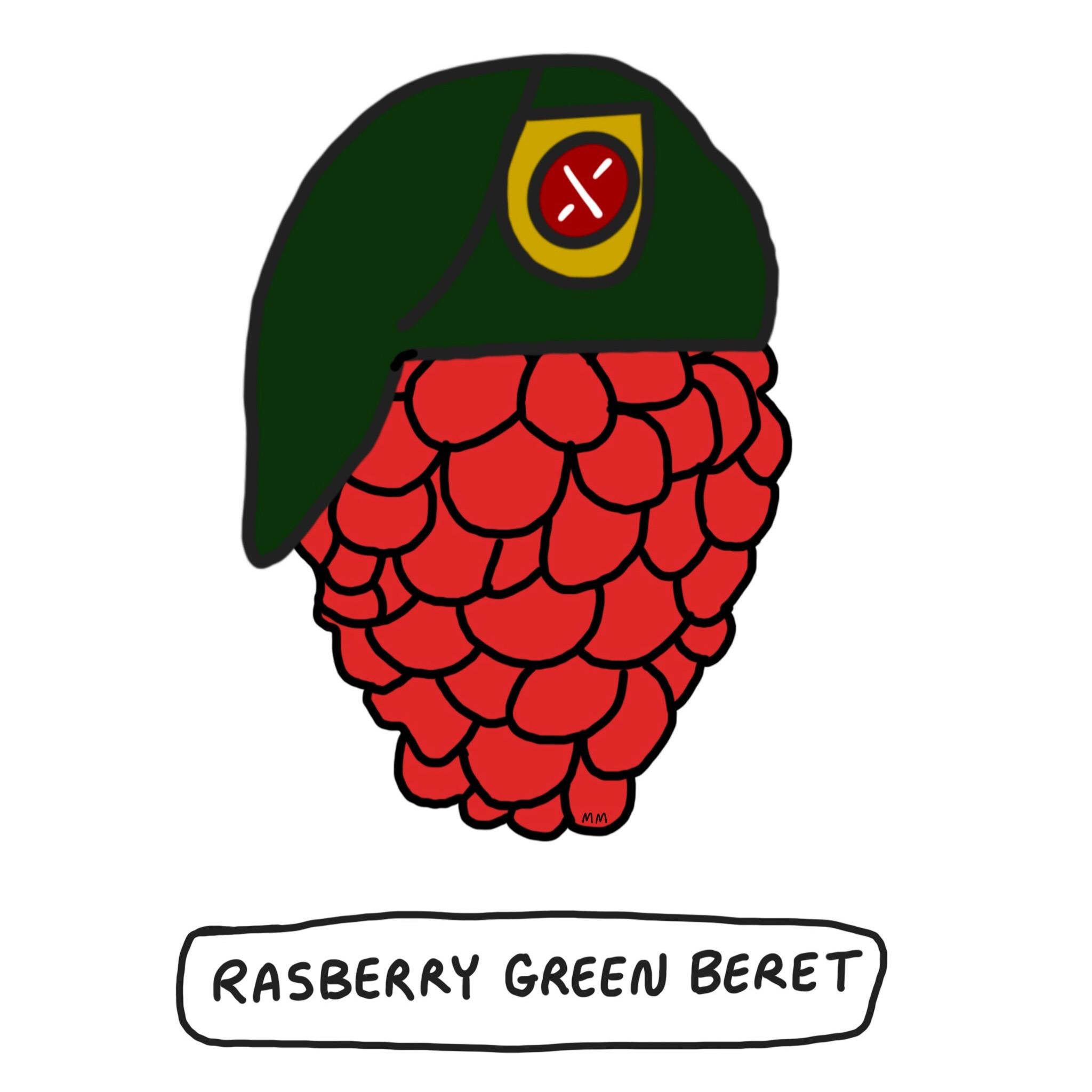 Rasberry Green Beret
