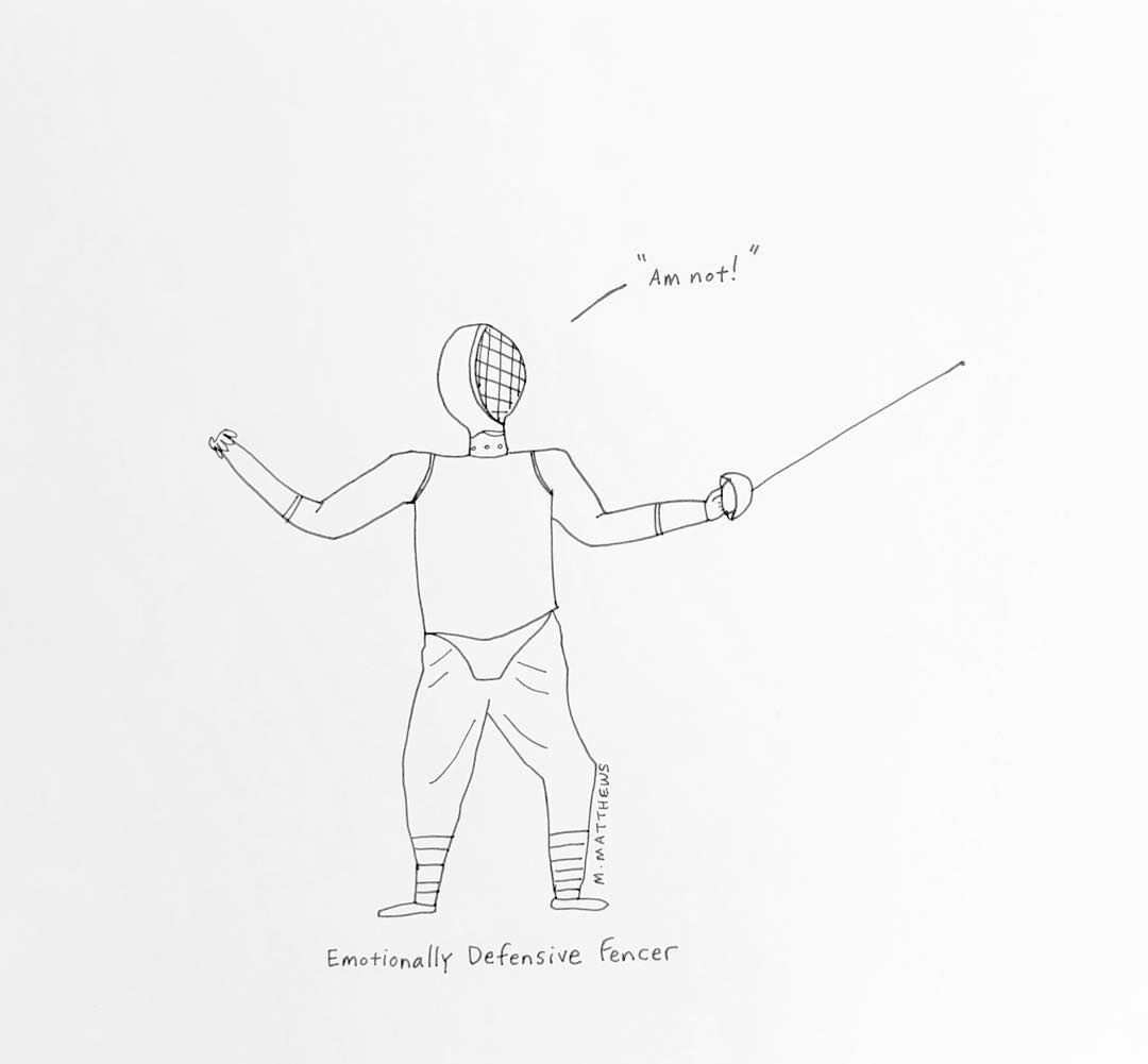 Emotionally Defensive Fencer
