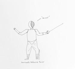 Emotionally Defensive Fencer