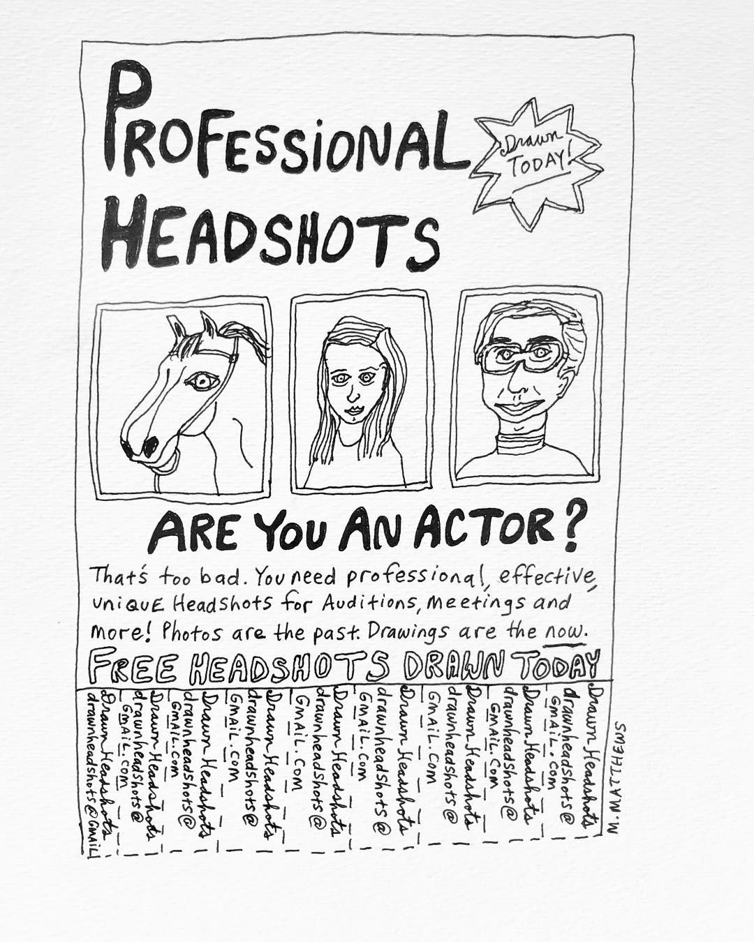 Drawn Headshots
