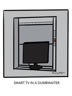 Smart TV in a dumbwaiter