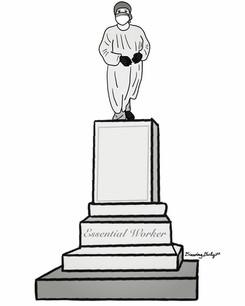 Essential Worker Statue