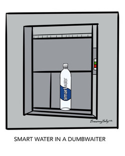 Smart Water in a dumbwaiter