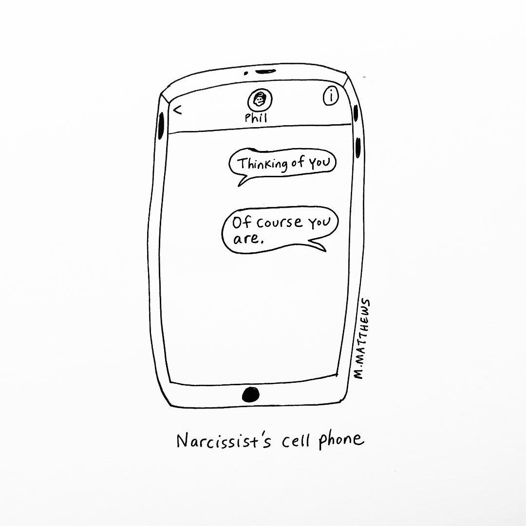 Narcissist's Cell Phone