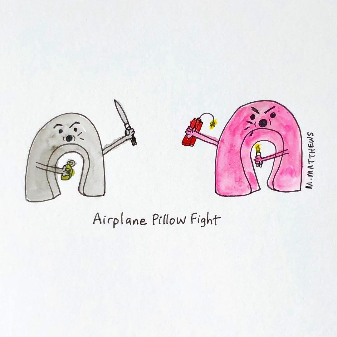 Airplane Pillow Fight