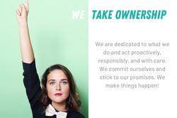 We take ownership