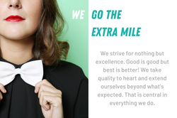 We go the extra mile