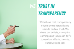 We trust in transparency