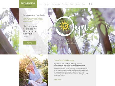 Oya Yoga Studio Website