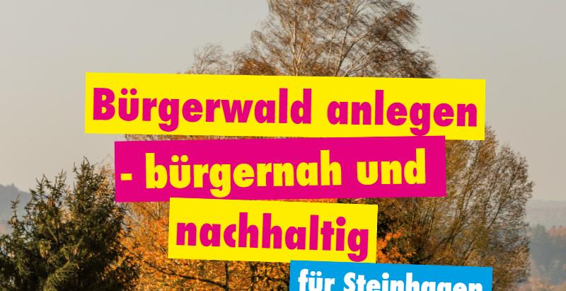 Bürgerwald anlegen - bürgernah und nachhaltig