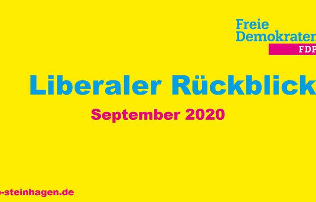 Liberaler Rückblick September 2020