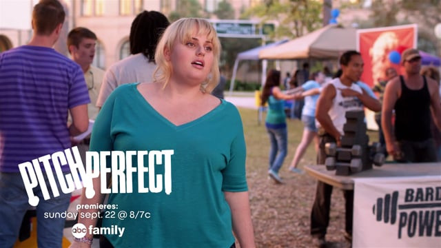 15 second commercial for the premier of Pitch Perfect on ABC Family