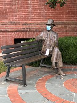 Faulkner masked up