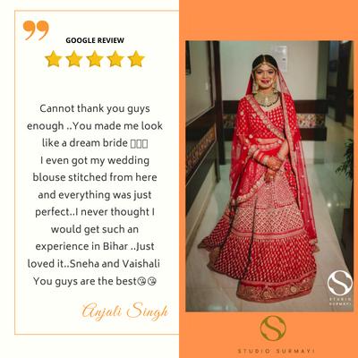 Anjali- Studio-Surmayi-Bride-client testimonial