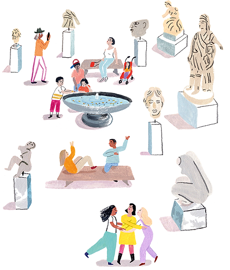 Families Illustration Met Museum Art Kids Rebecca Clarke