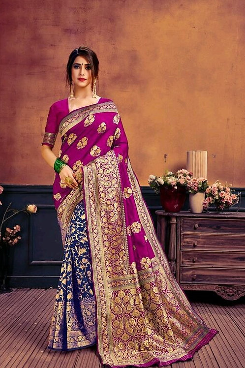 KFS Jacquard Silk Purple