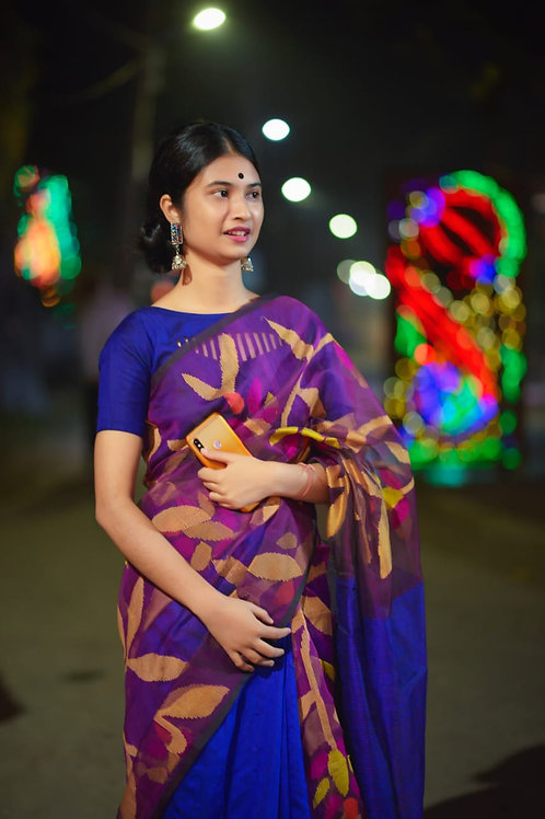SH SuperiorMatka Muslin Jamdani Saree  04