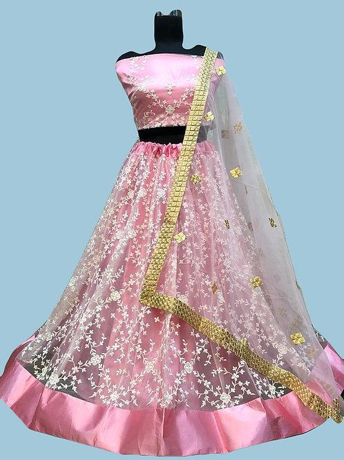 ANS Rency Heavy Net Threaded Embroidery Lehenga 03