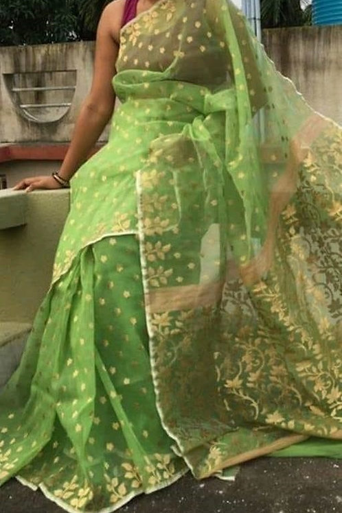 Kora Muslin Jamdani Saree